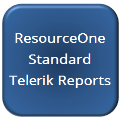ResourceOne Standard Telerik Reports